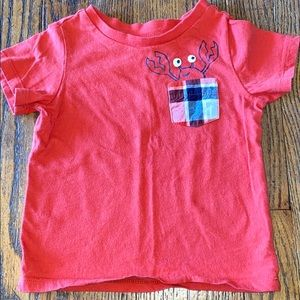 First impressions 18 month lobster shirt